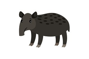 Tapir cartoon icon