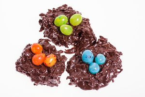Candy bird nests
