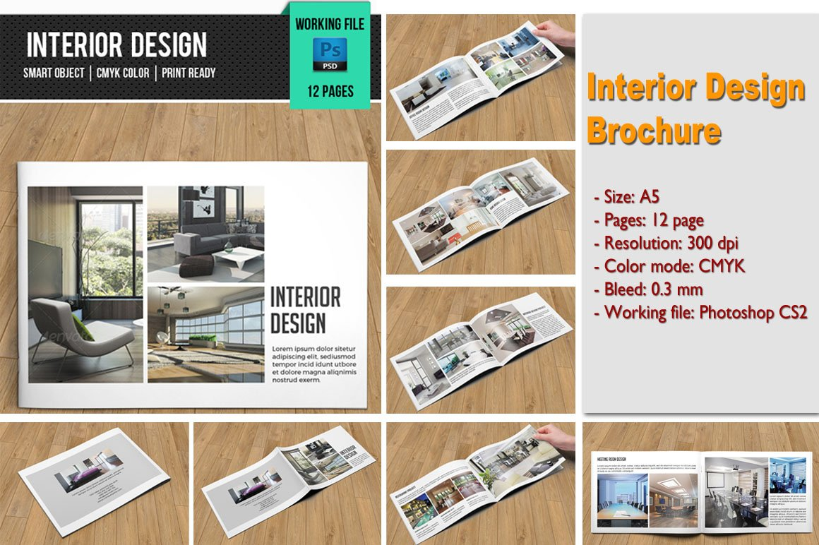 Interior design brochure v101 brochure templates for Interior design brochures