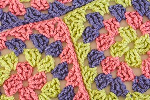 Bright Colored Granny Squares