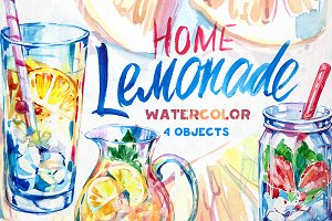 Lemonade. Watercolor
