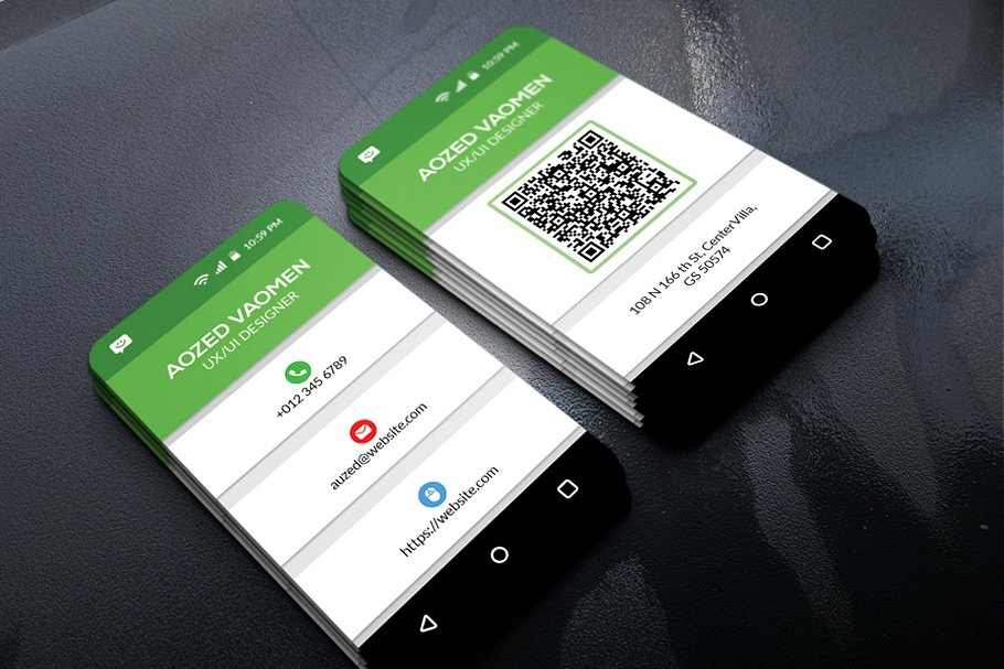 Mobile Business Card Business Card Templates Creative Market