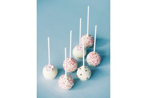 Group of tasty cake pops.