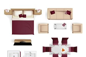 Modern apartment design elements