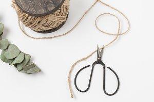 Stock Photo - Twine & Scissors