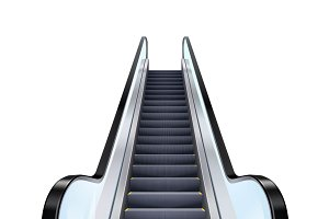 Realistic escalator illustration