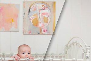 Baby Crib Fabric Mockup