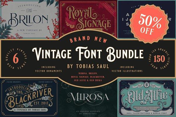 Vintage Font Bundle