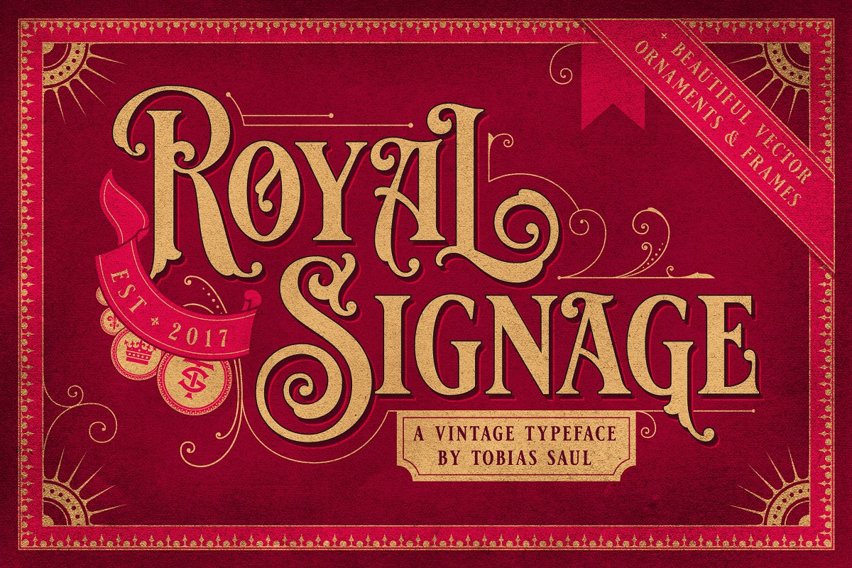 Vintage Font Bundle in Display Fonts - product preview 6