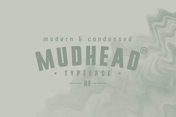 Sans Serif Fonts: Headfonts - Mudhead Typeface