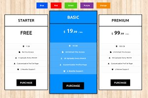 Pricing Tables - CSS3