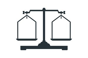 Laboratory scales icons