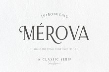 Merova - Classic Serif (5 Fonts) by Sarid Ezra in Serif Fonts