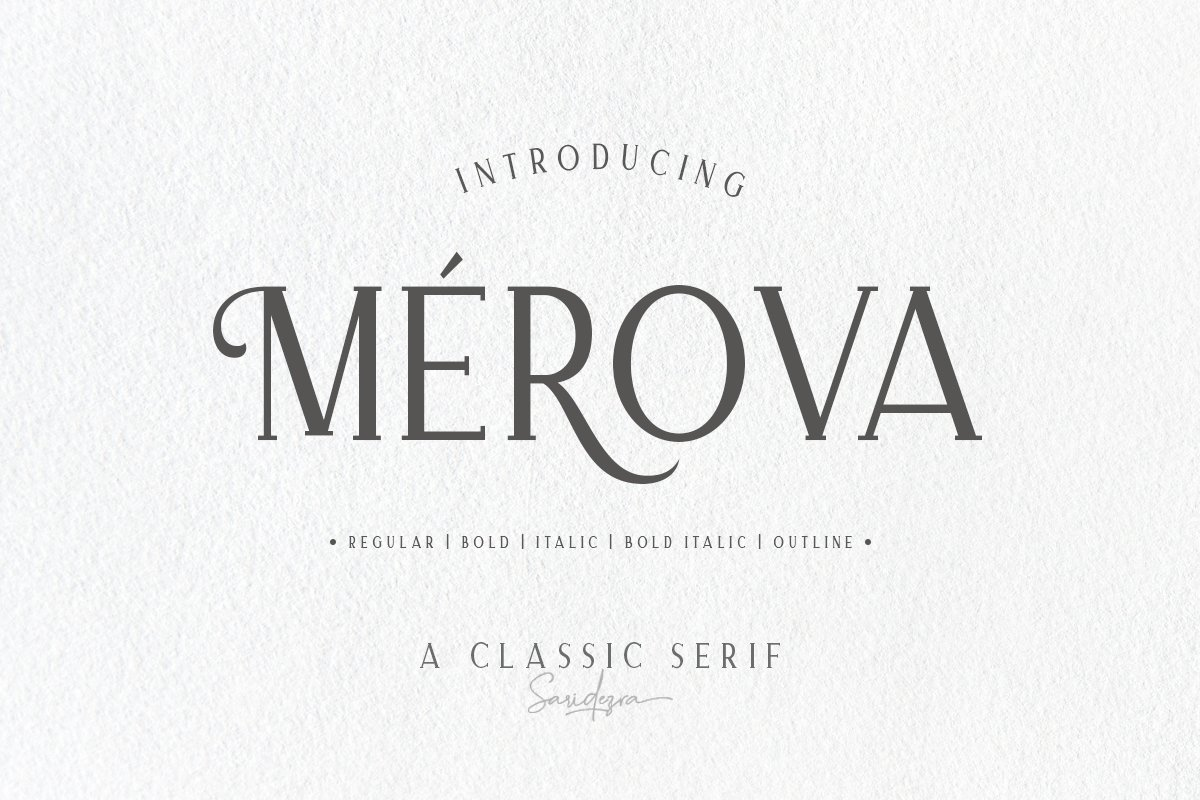 Merova classic serif 5 fonts serif fonts creative market