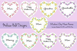Mother's Day Heart Frames