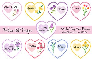 Mother's Day Heart Flowers