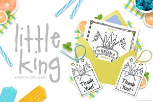 Little King - Party Invitation Set