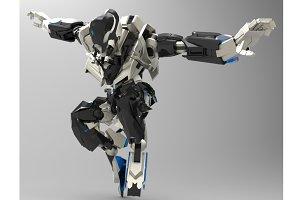 Sci-fi Humanoid Robot 3D model