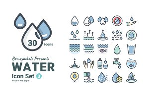 Water Fullcolors Icon Set