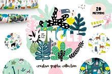 Jungle!Creative summer pack by Marina Solodkaya in Patterns