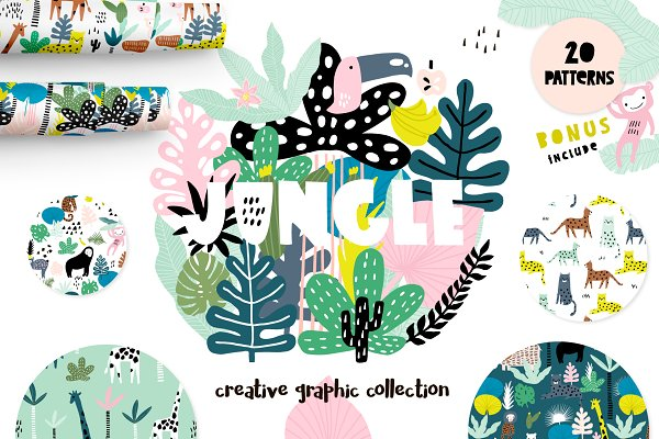 Patterns: solmariart - Jungle!Creative summer pack