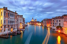 Grand canal at night in Venice, Italy by Kavalenkava Volha in Architecture