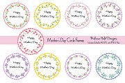 Mother's Day Circle Frames