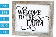 Welcome to the Farm SVG Cut File