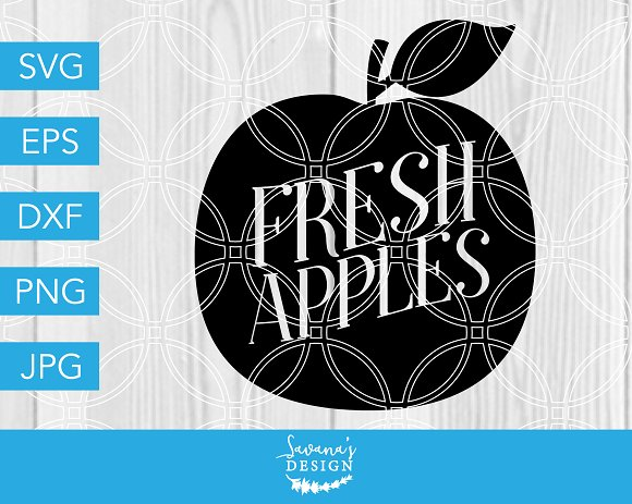 Fresh Apples SVG Farm SVG in Illustrations