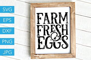 Farm Fresh Eggs SVG Cut File