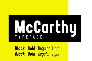 McCarthy Typeface - EIGHT Styles