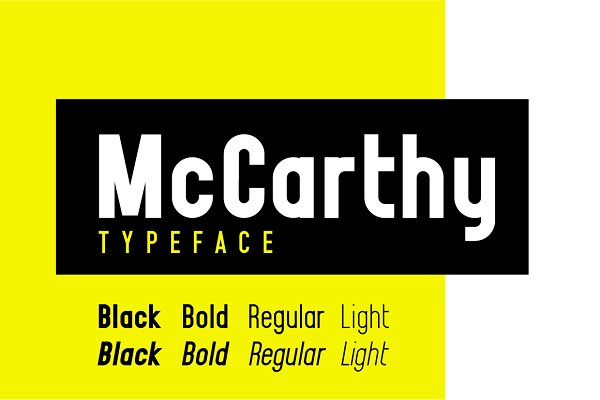 Sans Serif Fonts: McWhorter Creative Shop - McCarthy Typeface - EIGHT Styles