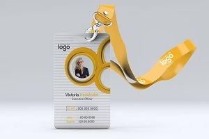Circle Creative Yellow ID Card