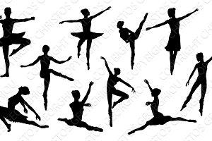 Silhouette Ballet Dancers