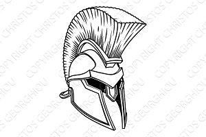 Gladiator Spartan Trojan Roman Helmet