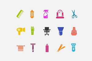 15 Barber Icons