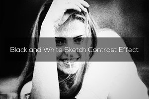 Black and White Sketch Effect