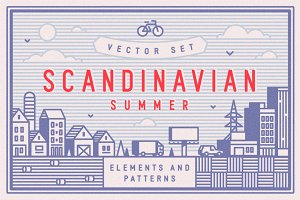 Scandinavian Summer Vector Set