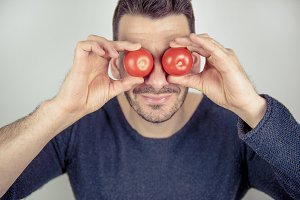 You have tomatoes on your eyes II