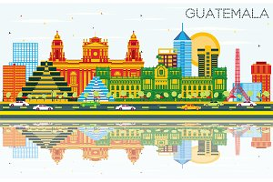 Guatemala Skyline with Color