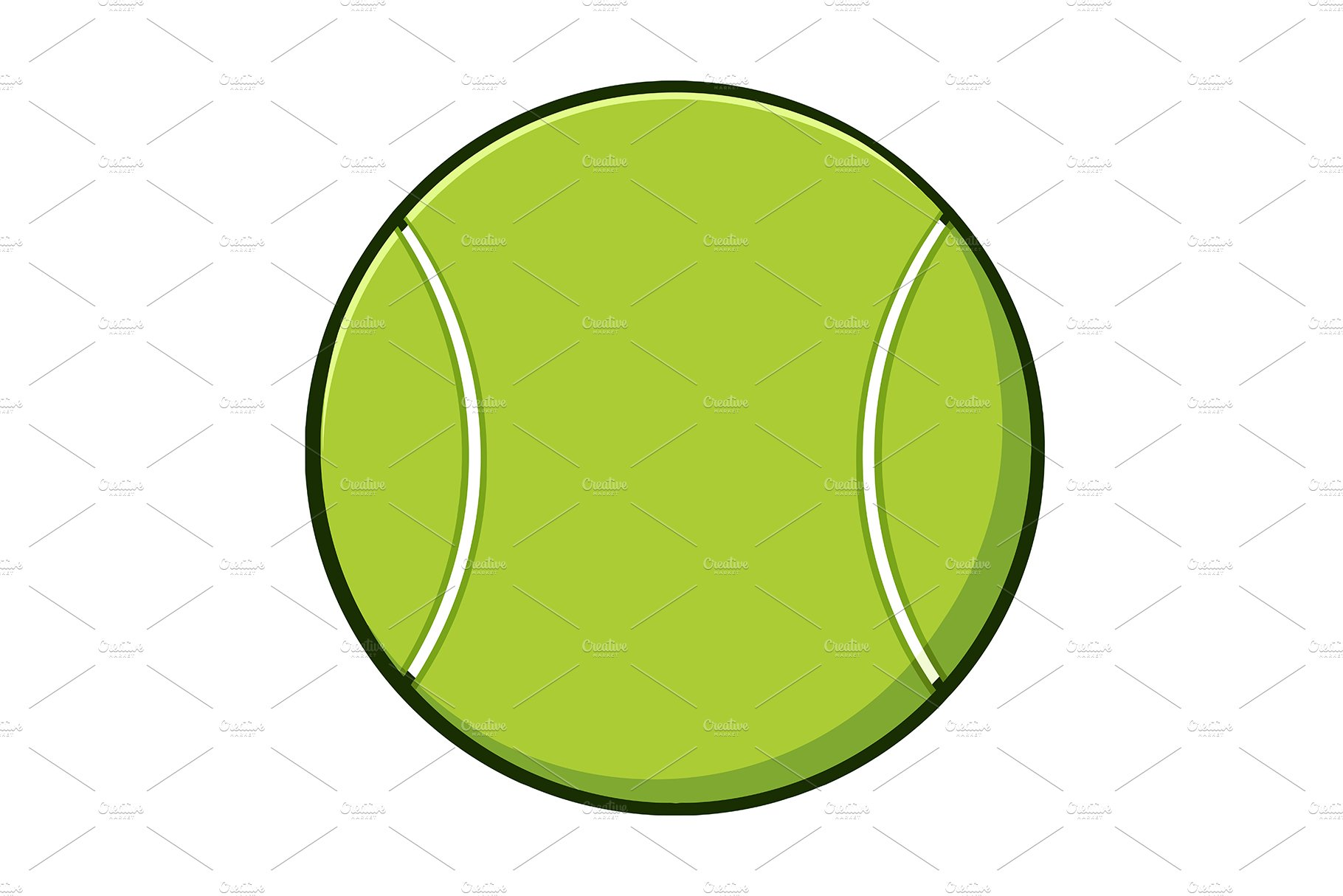 Transparent Cartoon Tennis Ball