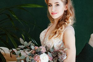 bride with a bouquet of flowers