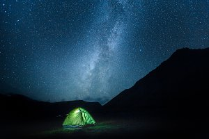Tent  Under Milky Way