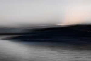 Abstract lanscape at dusk