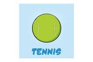 Tennis Ball With Text And Background