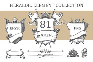 Heraldic element collection
