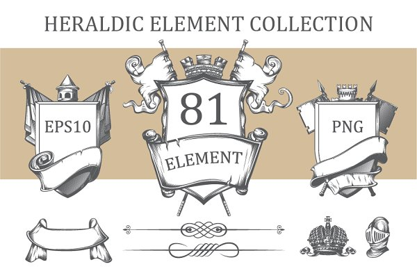 Heraldic element collection