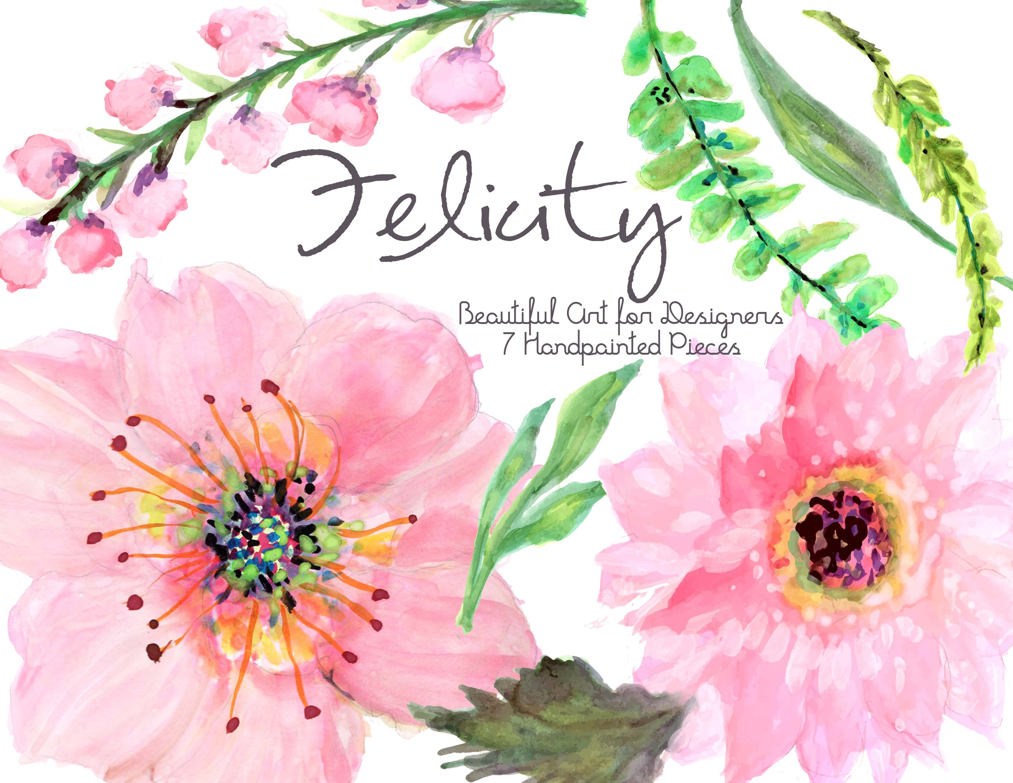 Handpainted Flowers Illustrations Creative Market