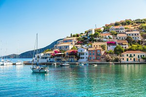 Assos is a small town on the island of Kefalonia, Greece.