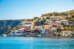 Greek Island Kefalonia. Assos cityscape.